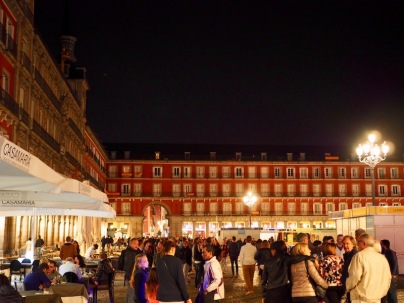Plaza Mayor yöaikaan