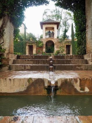 Vesiputouksia Nasridin palatsilla