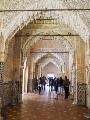 Nasridin palatsin käytävät